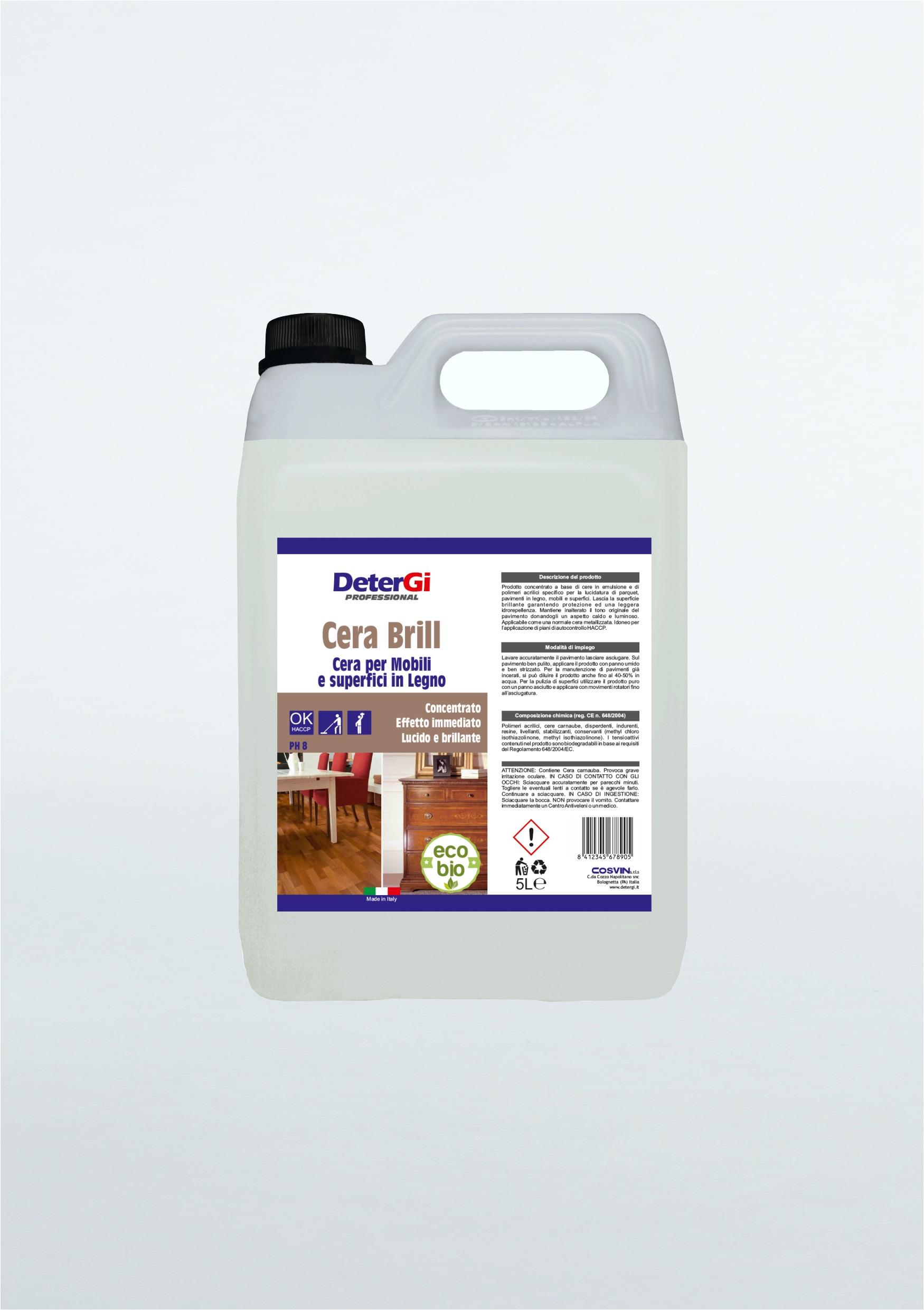 Cera Per Gres Effetto Legno cera brill legno 5 lt : su detergi.it